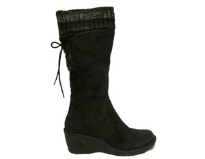 UGG Australia Leather Ugg Knee High Lambskin Black Boots