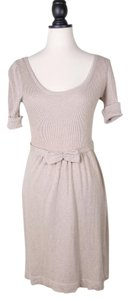 Zara short dress LIGHT TAN Knit Sweater Angora on Tradesy