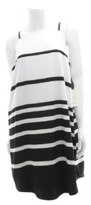 BB Dakota short dress Black/White Striped Paone Keyhole Stripes Spring on Tradesy