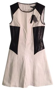 Tibi Sleeveless Leather Faux Leather New With Tags Nwt Dress