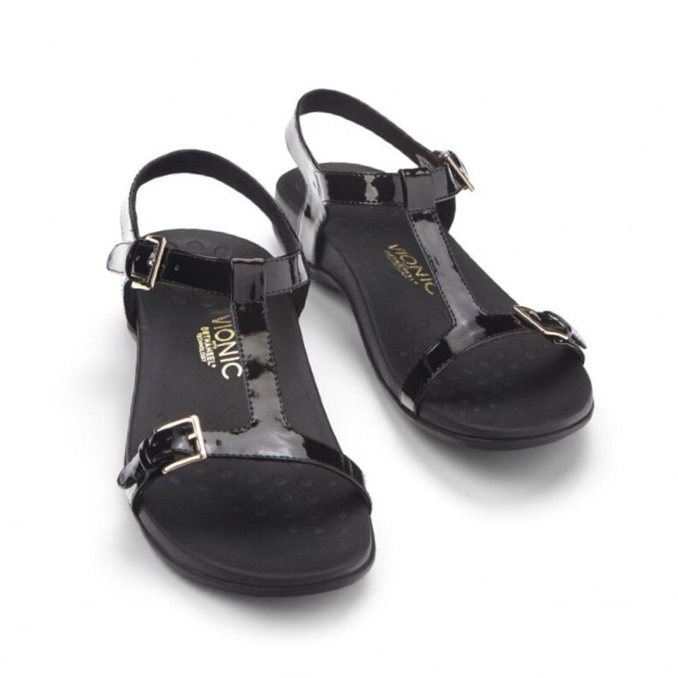 f8de978f5655 Vionic New Adriane Black Backsrap Slide Sandals Size US 7 Regular (M ...
