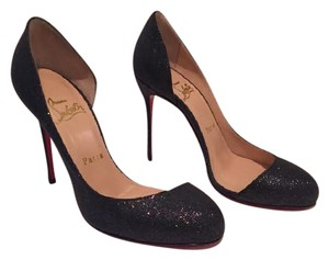 Christian Louboutin Shimmer Navy (w/ sparkle) Pumps