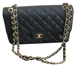 Chanel Double Flap Caviar Quilted Jumbo Shoulder Bag