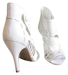 Chinese Laundry Booties Strappy White Sandals