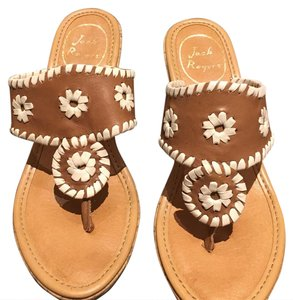 Jack Rogers Gold, Tan/Brown Flats
