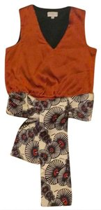 Karen Millen Classic Top Burnt orange with patterned sash