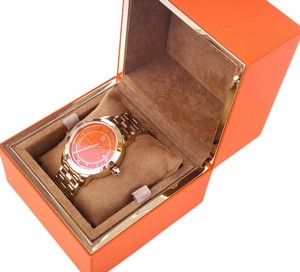 Tory Burch Tory Gold-Tone/Orange 37mm Watch TRB1006