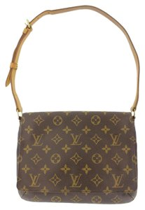 Louis Vuitton Front Flap Monogram Canvas Musette Tango Shoulder Bag