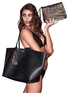 Victoria's Secret Leather Nwt Travel Tote in Black