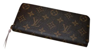 Louis Vuitton BRAND NEW! Monogram Clemence Wallet with Rose Ballerine (Pink)