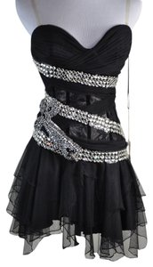 Mandalay New Rhinestone Cross Lace Tulle Size $ Dress