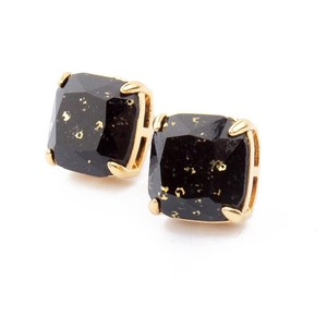 Kate Spade NEW kate spade Jet Black Square Studs with Gold Specks - 12k Earrings