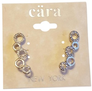 Cära Couture Jewelry Cara Round Crystal Earrings
