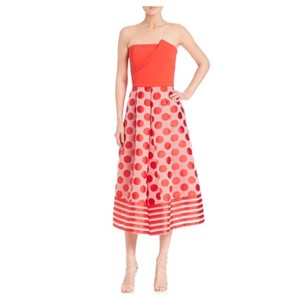 Sachin + Babi Tori Ball Gown Dots Stripe Gwn Dress