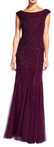 Adrianna Papell Beaded Cap Sleeve Gown Dress