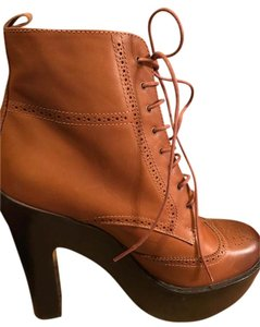 Polo Ralph Lauren Platform Leather Brown Boots