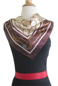 Other Square Silk Scarf Violet Tassel Belt Print Neckerchief Handbag Tie