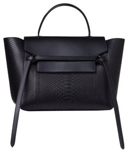 Céline Small Belt Tote in Black Python Celine