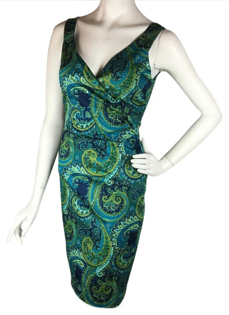 Item - Teal Beaded Short Cocktail Dress Size 2 (XS)