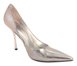 Guess By Marciano Patent Leather Silver Pumps