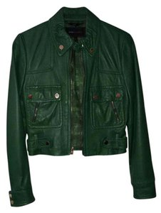 BCBGMAXAZRIA Green Leather Jacket