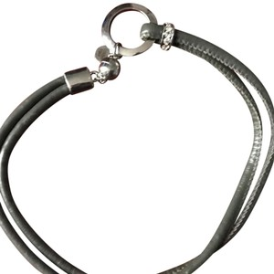 Casa Parti Casa Parti Gray Leather Choker