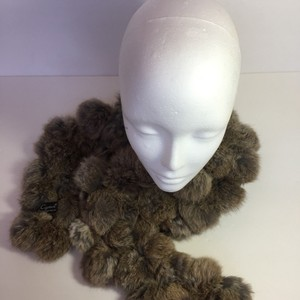 Cejon Cejon Plush Rabbit Fur Wrap Scarf