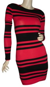French Connection short dress red black on Tradesy