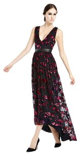 Alice + Olivia Formal Evening Full Length Floral Hi Lo Dress