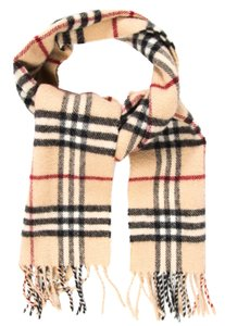 Burberry Beige, black multicolor Burberry Nova Check print wool scarf