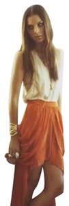 Finders Keepers Mini Skirt orange