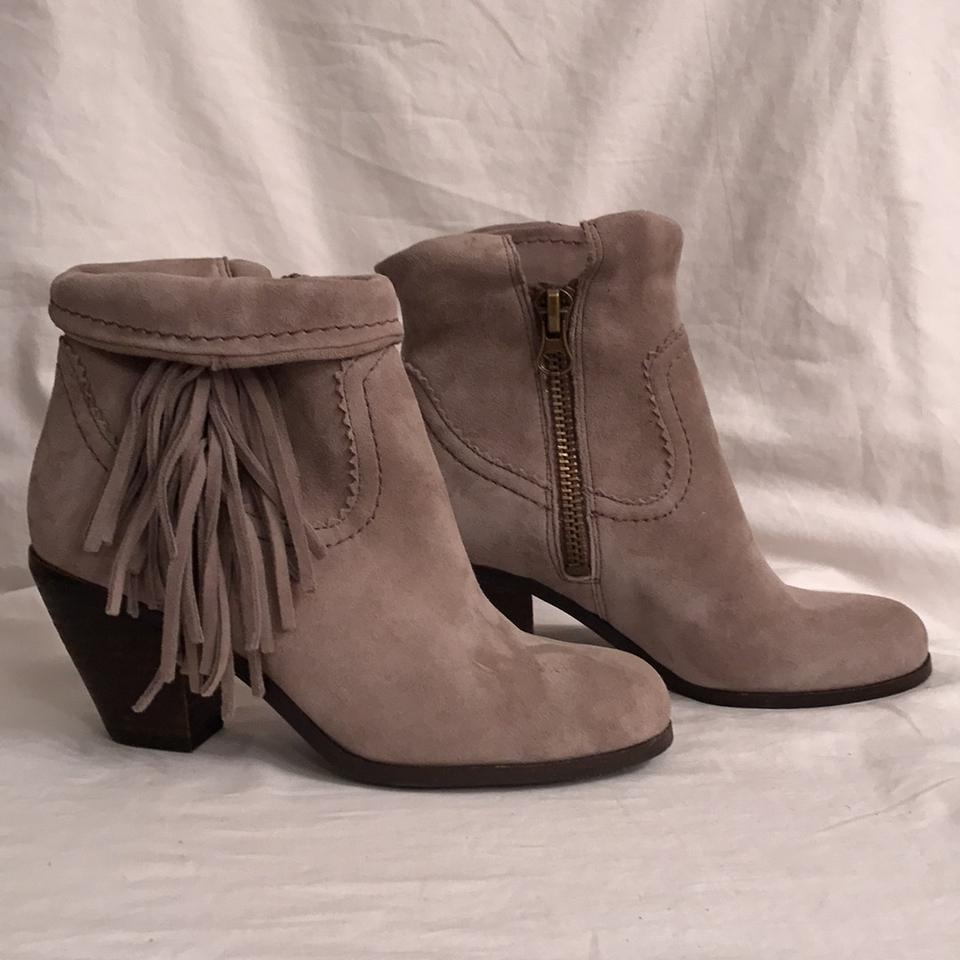 66a6ac460 Sam Edelman Leather Suede Ankle Western Cowboy Gray Boots Image 8. 123456789