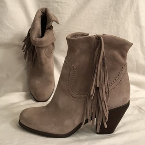 Sam Edelman Leather Suede New/nwt Ankle Western/cowboy Gray Boots