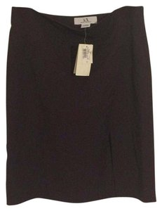 A|X Armani Exchange Career New Work Formal Stretchy Mini Skirt Brown