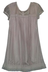 Diabless/ Anthropologie short dress Light Pink Pleated Shift Tunic Empire Waist Smock on Tradesy