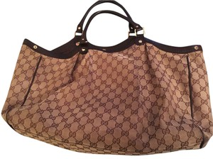 Gucci Sukey Tote in Brown
