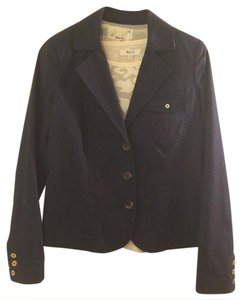 Trovata Business Career Preppy Classic Navy Blue Blazer
