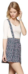 Coincidence & Chance Urban Outffiters Floral Print Suspender Florals Hipster Mini Skirt Blue
