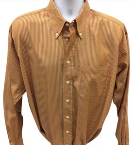 Burberry London Button Down Shirt Stripped Coral