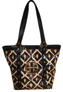 Tory Burch Studded Logo Tote in Multi-colored