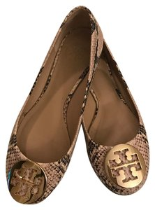 Tory Burch Cream Black Flats