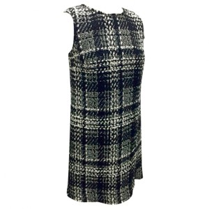 Dolce&Gabbana Dolce Tweed Plaid Jumper Black And White Dress
