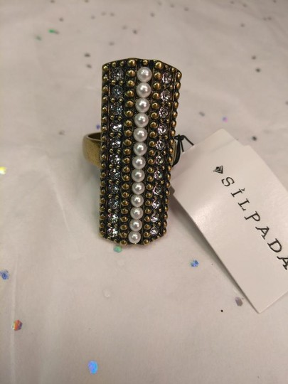 Silpada NEW Silpada Pearls Night Out Ring KRR0024 Size 8.5 Image 1
