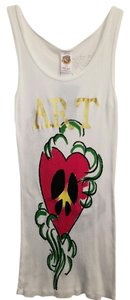 Ed Hardy Cotton Stretchy Artsy Machine Washable Top White