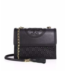 Tory Burch Leather Quilted Crossbody Shoulder Bag
