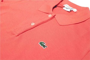 Lacoste Button Down Shirt Coral