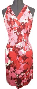 Donna Ricco short dress pink Floral Halter Nordstrom on Tradesy
