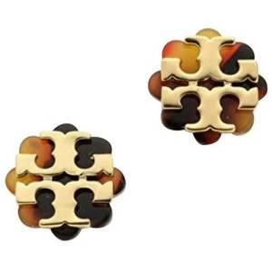 Tory Burch Resin flower stud earring