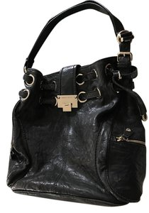 Jimmy Choo Distressed Biker Leather Watersnake Hobo Bag