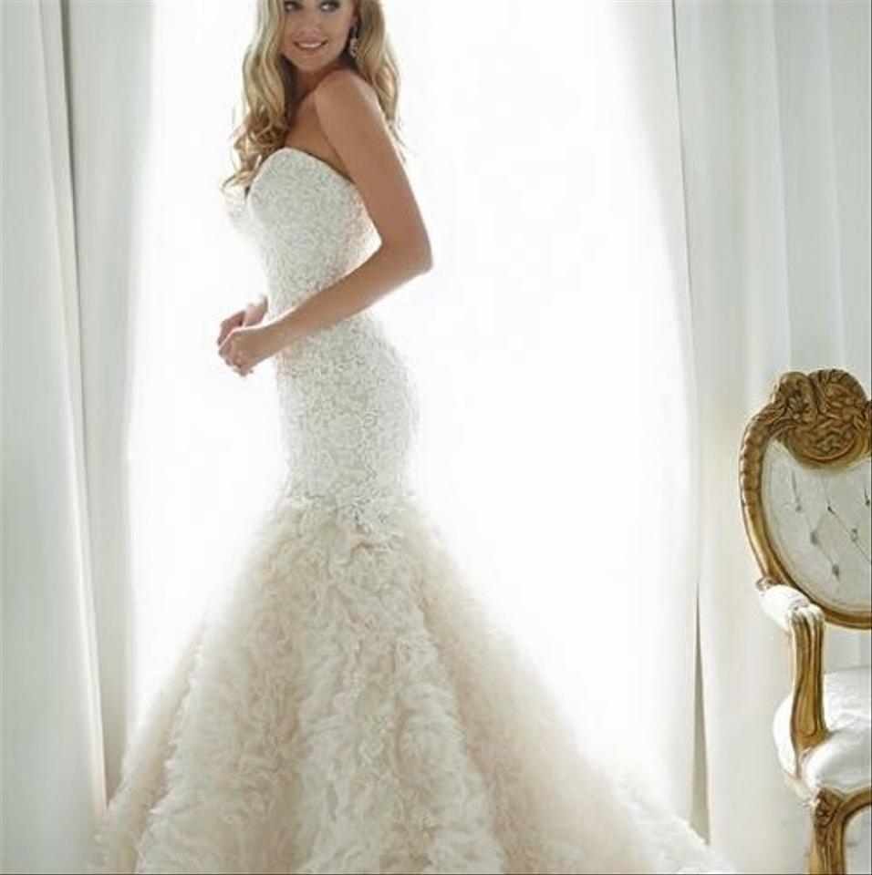 Lace Fit And Flare Wedding Gown: Allure Bridals Ivory Lace/Tulle Stunning Fit And Flare